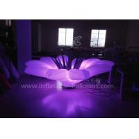 China 1.5m LED Flower Inflatable Lighting Balloon With Base Blower Oxford Cloth wholesale