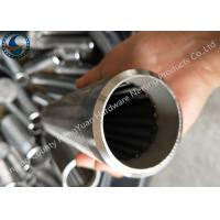 China Bleved Welding Ring V Wire Wrap Screen Pipe / Water Well Screen For Sand Control wholesale