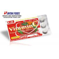 China Functional Chewable Vitamin C Candy Tablets , Sugar Free Confectionery Strawberry Sweets wholesale