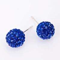 China Exquisite craftsmanship handcrafted crystal jewelry blue earrings CJ-E-006 wholesale