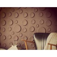 China Coloured Fiber 3D Wall Panels , 50CM × 50CM  Embossed Wallpaper on sale