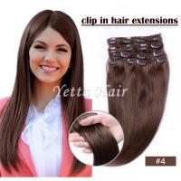 China Brazilian pre bonded remy human hair extensions / Clipped in Hair Extensions wholesale