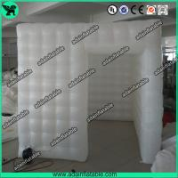 China White Portable Inflatable Event Tents / Durable Inflatable Photo Booth Tent Printing wholesale