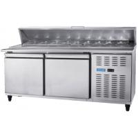 Quality Countertop Pizza 2 door Under Counter Freezer 1/3 trays on the top for sale