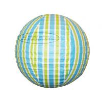 China Colorful Stripe Colorful Round Paper Lanterns With Metal Wire Material wholesale