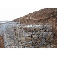 Quality Dam Protecting Gabion Wire Mesh Basket 350-550N / MM2 Tensile Strength for sale
