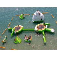 China Yellow Giant Inflatable Floating Water Park With 0.9mm PVC Tarpaulin Material wholesale