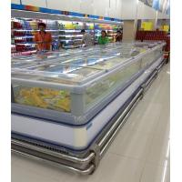 China Self - Contained Supermarket Island Freezer -18°C Stainless Steel wholesale