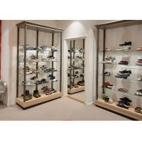 China Durable Inexpensive Shoe Display Cabinet / Glass Shoe Shelves Simple Modern Design wholesale