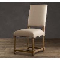 China French Antique Wooden fully upholstered dining room chairs / fabric kitchen chairs wholesale