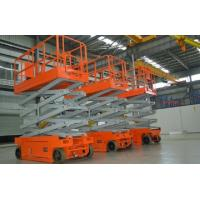 China Scissor Electric Hydraulic Lift Platform Self Propelled For Construction / Maintenance wholesale