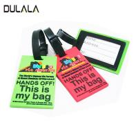 China Custom soft PVC Travel Luggage Tag Cartoon Silicone Luggage Name Tag with plastic Buckle wholesale
