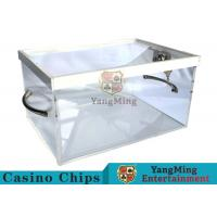 China New Style Luxury Poker Discard Holder With Two Metal Handle Easy To Carry wholesale