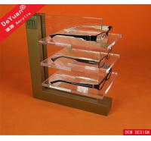 China 3 Tier Polishing Acrylic Display Rack For Glasses Transparent High Glossy on sale