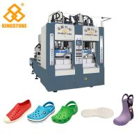 China Rain Boots Plastic Chappal Making Machine , Vertical Shoe Sole Mould Making Machine wholesale