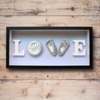 China Baby Feet and Hands 3D Baby Casting Kit , Plaster Handprint Footprint Wooden Photo Frame wholesale