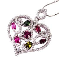 China Fashionable and hot-selling crystal silver gemstone pendant K-BC-C821 wholesale