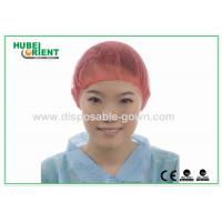 China PP Nonwoven Colorful Disposable Scrub Caps / Mens Surgical Caps wholesale