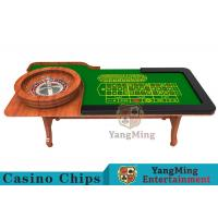 China Wooden Collapsible Casino Card Table With Flame Retardant Tablecloth wholesale