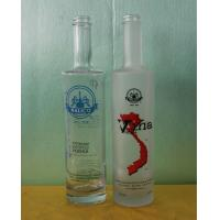 China 500ml frosted vodka glass bottle wholesale