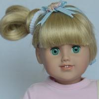 China 18 inch American Gril Doll Wigs Gold Heads wholesale