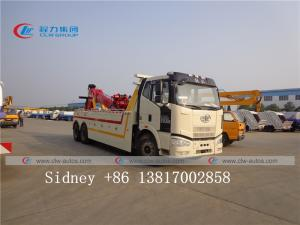 China FAW 6X4 Heavy Duty Wrecker Truck Rotator Tow Truck 20 Ton Wrecker Tow Truck for Sale wholesale