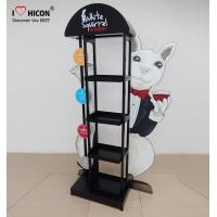 China Eyecatching Wine Display Rack Metal Grape Wine Commercial Wine Floor Standing Rack wholesale