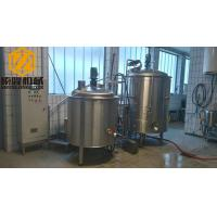 China Two Vessels Small Scale Brewing Equipment 10HL Steam / Direct Fire Heating wholesale