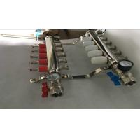 Quality Intelligent Temperture Control Floor Heating Manifold With Two Auto Drain Valve 5 Ways for sale