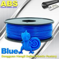 China 3D Printer Material Strength Blue Filament  , 1.75mm / 3.0mm ABS Filament Consumables wholesale
