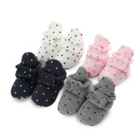 China Wholesale cheap Cotton fabric stars print fancy cute toddler boy girl baby booties on sale