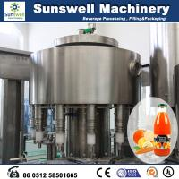 China Stainless Steel Hot Filling Machine Automatic For Orange Juice wholesale