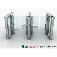 China Access Control Speed Gate Turnstile , DC Servo Motor Pedestrian Barrier Gate wholesale