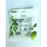 China Custom Made Composite Zipper Transparent Plastic Bag For Scrub Cleansing Flour Puff wholesale