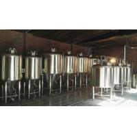 China 1000L Large Beer Brewing Equipment , Industrial Stainless Steel Beer Brewing System wholesale