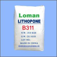 China High Whiteness White Power lithopone Type TiO2, High Purity lithopone B311Loman Brand on sale