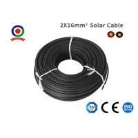 China Double Protection Black Twin Core Solar Cable , Low Eccentricity 16mm 2 Core Cable on sale