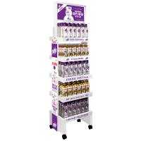 China E Grade Corrugated Cardboard Beverage Display Racks For Retail Stores With Oil Printing on sale