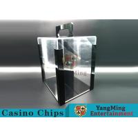 China Portable Poker Chip Holder With Tray For 1000 Pcs 40mm Casino Poker Chips wholesale