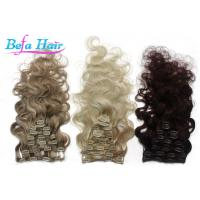 China 32 Inch / 34 Inch Clip In Hair Extension Brazilian Virgin Unprocessed Remy Human Hair Weave wholesale