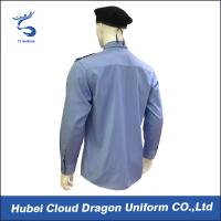 Buy cheap Custom Blue Security Shirt  With Comfortable 100% Cotton / Mens Long Sleeve Shirts product