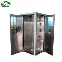 China L Type Cleanroom Air Shower Stainless Steel Body For Electronics Factory on sale