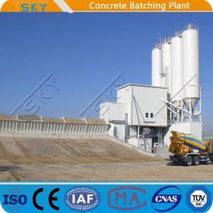 China Horizontal HZS180 Concrete Batching Mixing Plant wholesale