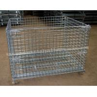 China Wire Mesh Foldable Storage Cage1200 X 800mm Material Handling Equipment wholesale