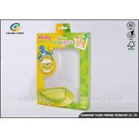China Green / Yellow Foldable Gift Boxes Eco Friendly PVC Window For Children Bowl wholesale