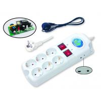 China 6 Outlets White German Type Switched Power Extension Socket with VDE Plug wholesale