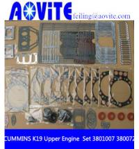 China Cummins K19 KTA19 Full Gasket Kit Upper Engine and Lower Engine Gasket Set 3801007 3800728 wholesale