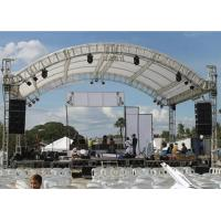 China Concert Curved Roof Trusses Aluminum Alloy Material Two Years Warranty wholesale