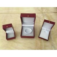 China Red Leather Jewellery Necklace Gift Box / Engagement Display Case wholesale