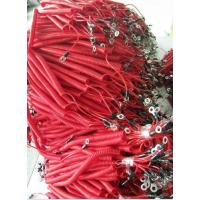 China Fashion beatuiful red fishing lanyard China factory offer spring holder with 2eyelet ends wholesale